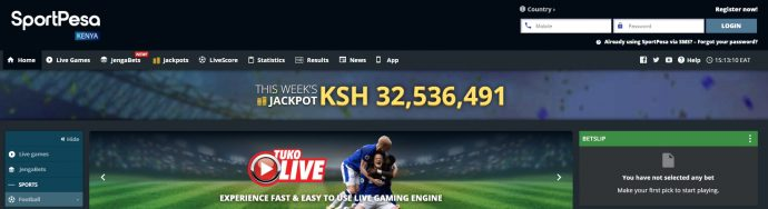 SportPesa website