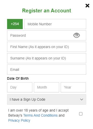 betway register account