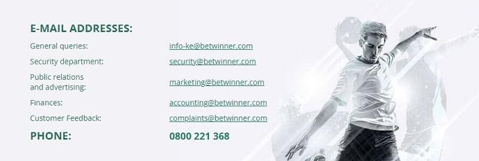 BetWinner Contact