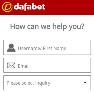 dafabet live chat